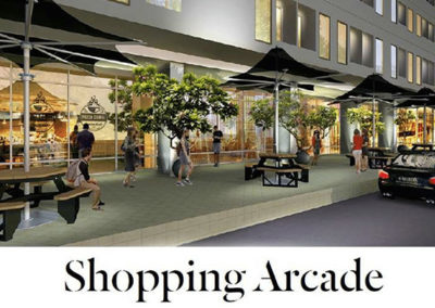 serpong garden apartment shopping arcade